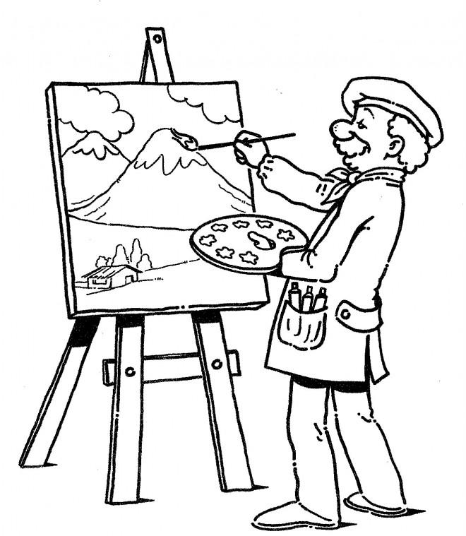 Dessin Palette De Peinture A Imprimer Gamboahinestrosa