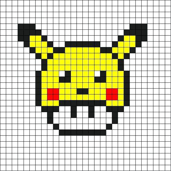 Pixel Art A Imprimer Pokemon - Gamboahinestrosa